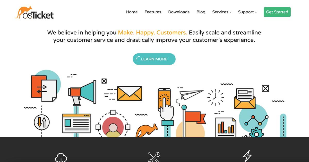 osTicket's homepage