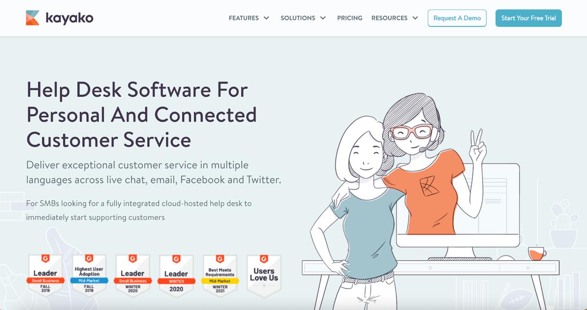The Kayako homepage