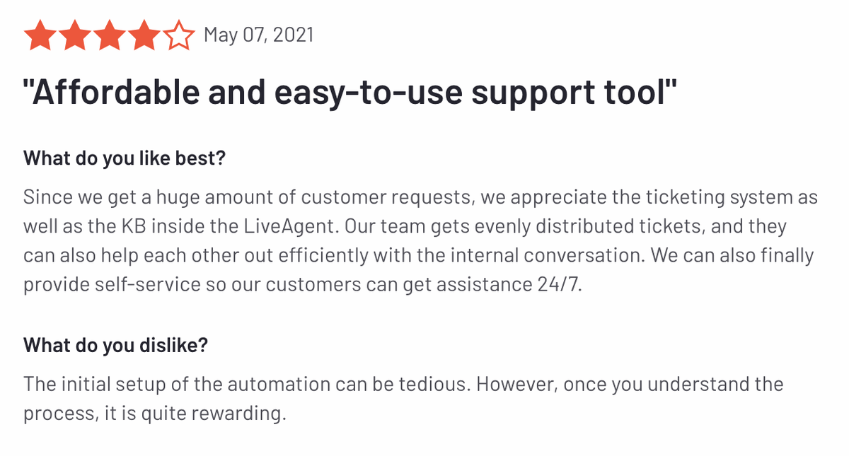 """LiveAgent review: """"Afforadable and easy-to-use support tool"""""""