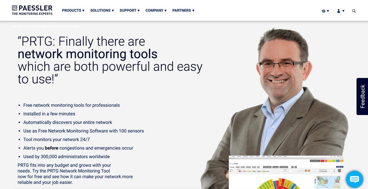 PRTG homepage
