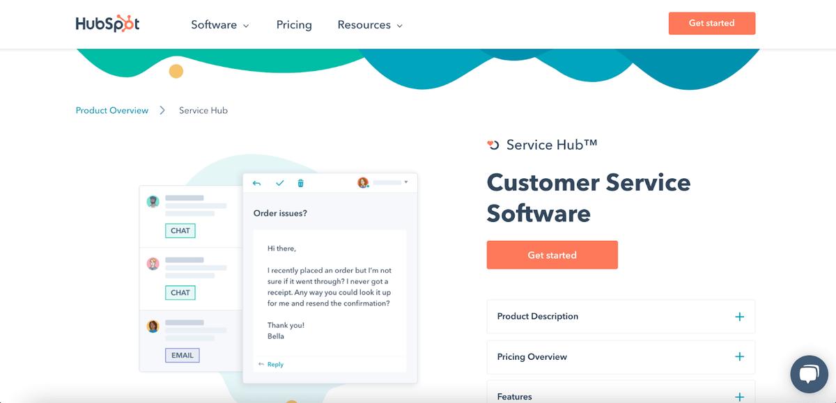 HubSpot's homepage