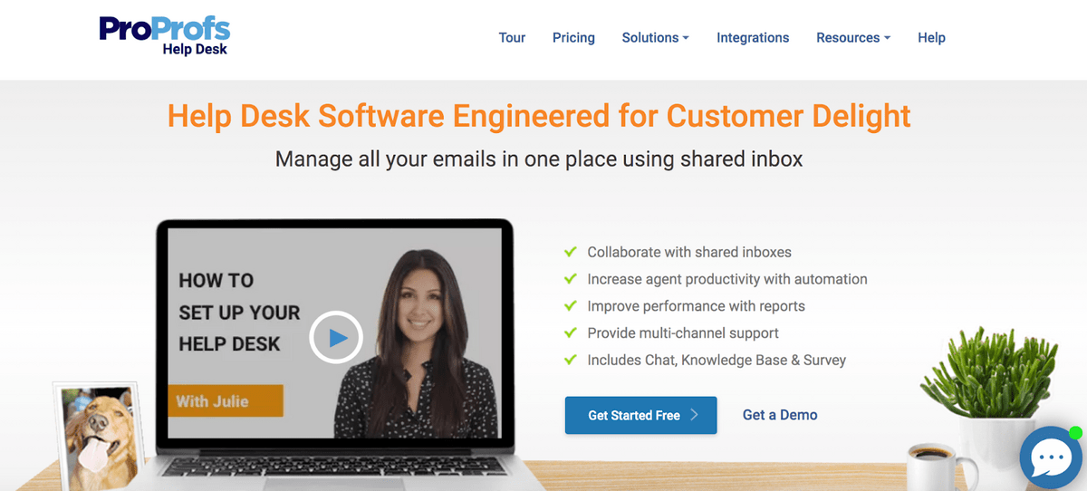 ProProfs Help Desk: Help Desk Software Engineered for Customer Delight; Manage all your emails in one place using shared inbox.