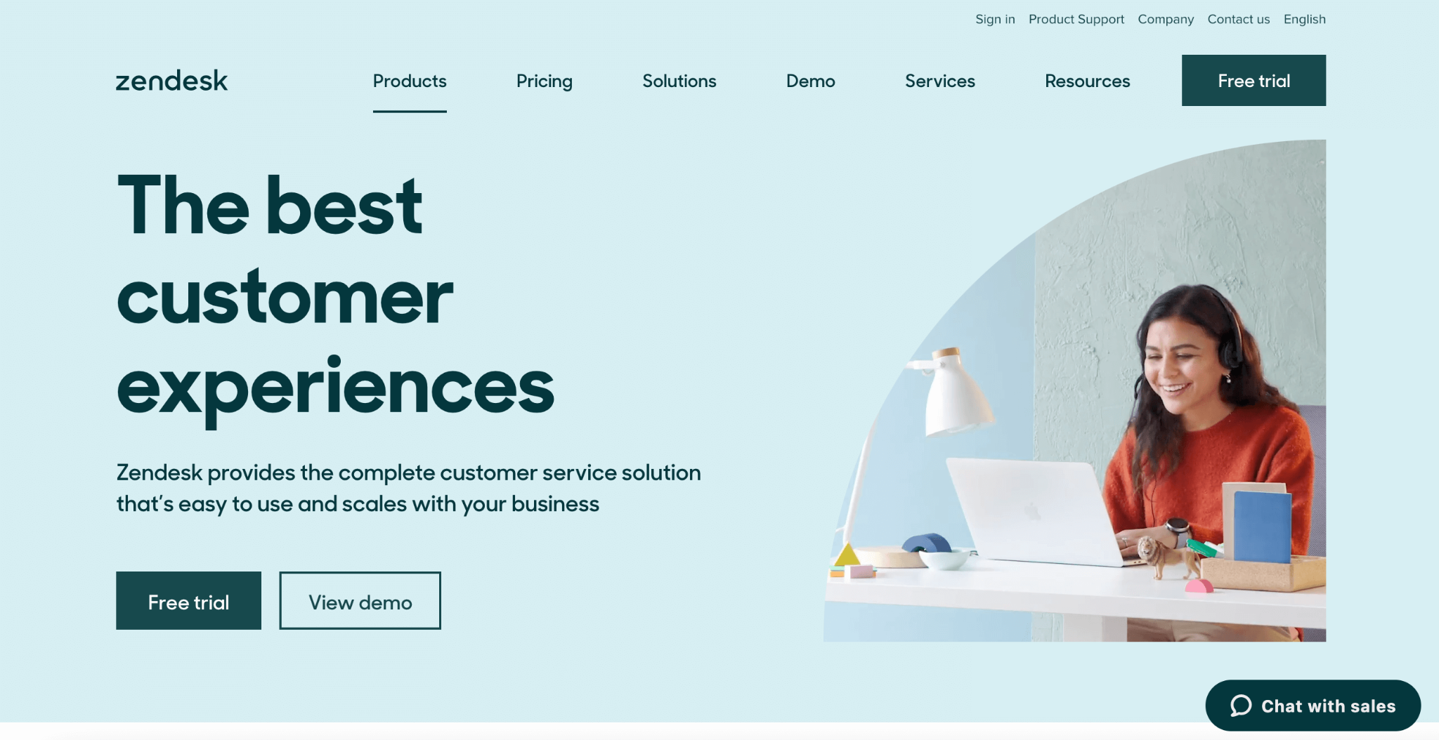 Zendesk homepage: The best customer experiences