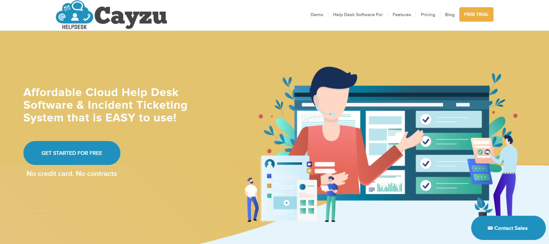 Cayzu homepage: Affordable Cloud Help Desk Software & Incident Ticketing System that is EASY to use!